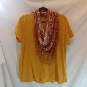 One World Sz XL womens t-shirt with scarf
